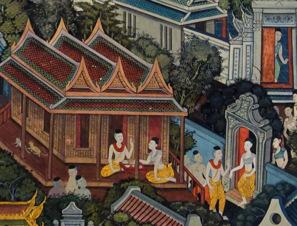 Visakha wijst de avances van zijn vrouw Dhammadinna af